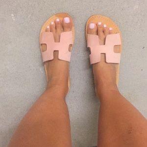 Greek leather sandals size 6